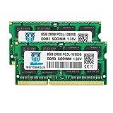 16GB Kit (2x8GB) DDR3L 1600MHz PC3-12800 Unbuffered Non-ECC 1.35V CL11 2Rx8 Dual Rank 204 Pin SODIMM Portatil Memoria Principal Module Upgrade
