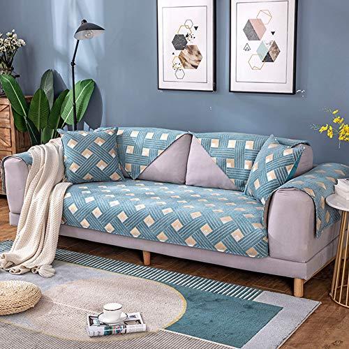 huahuajia Protector Sofa Fundas Bonitas para Sofa Klippan Cubierta de sofá Sofá Cubierta Sofás Cubre Fundas para Sillas Magia sofá Cubre Sofá Funda de Almohada 70X70,Blue
