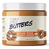 High Protein Nut Butter, Fit Butters Legendary Low Carb Spread with Whey Protein Isolate (Caramel Fudge Coconut Cookie)