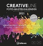 Foto-Bastelkalender schwarz 2021 - Kreativ-Kalender - DIY-Kalender - Kalender-zum-basteln -  16x17 -...