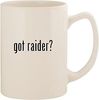 got raider? - White 14oz Ceramic Statesman Coffee Mug Cup