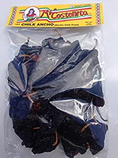 Micostenita Dried Chile Ancho,Ancho Chili Peppers - Dried Poblano Pepper - Mild to Medium Heat - Sweet & Smoky Flavor 16-Ounce Bag (1Pound)