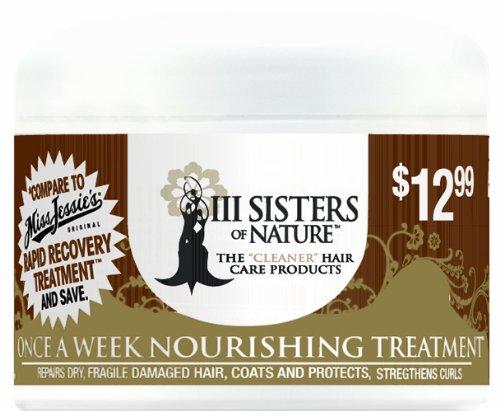 III Sisters of Nature Once a Week Nourishing Treatment, 8 Ounce by III Sisters of Nature