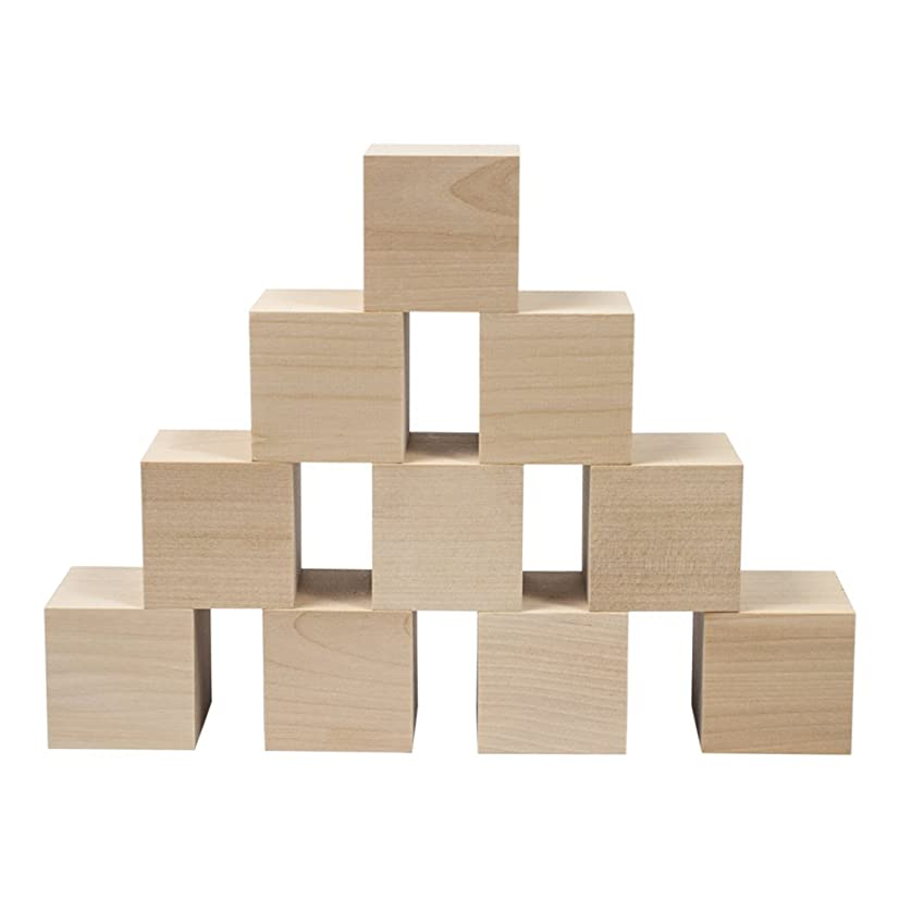 Wooden Cubes - 2 Inch - Wood Square Blocks For Photo Blocks, Crafts & DIY Projects (2