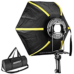 "Neewer 24 ""/ 60cm Professional Collapsible Hexagonal Softbox Folding Softbox Diffuser with Handle - Handle for Flashes (Black / Yellow)"