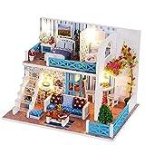 GJNVBDZSF DIY Doll House DIY Miniature Room Kit-Juego de construcción de Modelos de Madera-Mini Set de Casas-Woodcraft Construction Crafts Los Mejores Regalos de cumpleaños para Mujeres y niñas