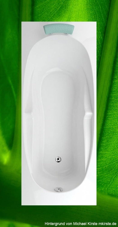 Badewanne 170x70 IBIZA + Füe + Ablauf + Befestigung - Acryl Rechteckbadewanne