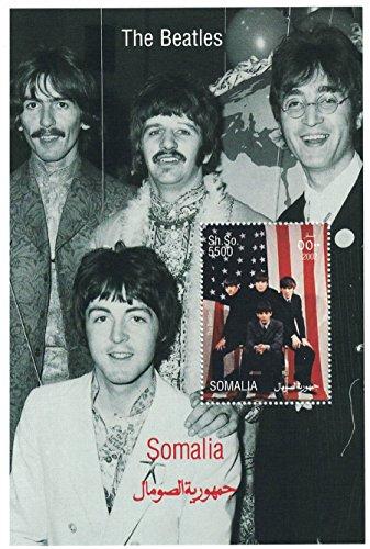 Francobolli per collezionisti - Foglio di francobolli perforato con i Beatles/Somalia