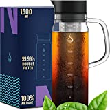 Cold Brew Coffee Maker Iced Coffee Maker Ice Tea Maker Glass Airtight - 1.5L/51oz