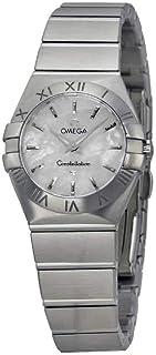 Omega Women's 12310246005001 Analog Display Swiss Quartz Silver Watch
