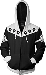 Men's Novelty Jackets with The Japanese Anime Naruto Autumn Outerwear