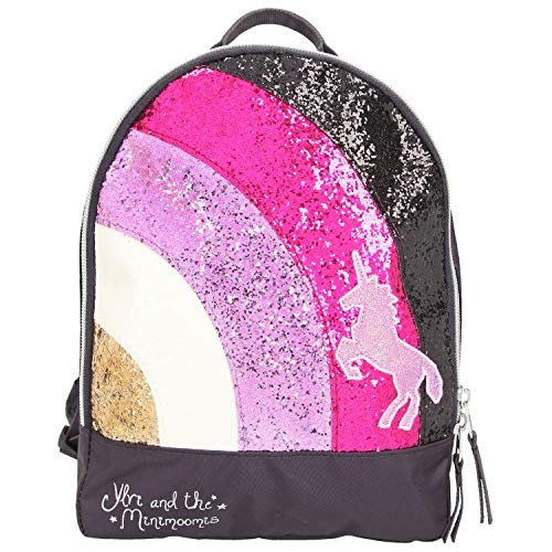 Depesche 10510 Backpack with Glitter Ylvi and the Minimoomis Anthracite Approx. 10 x 22 x 27.5 cm Grey