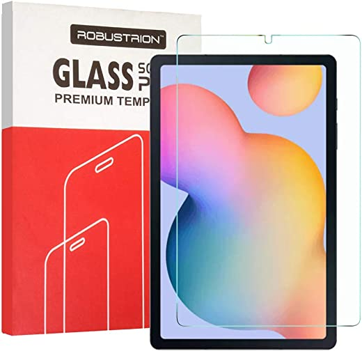 Robustrion [Anti-Scratch] & [Smudge Proof] [S Pen Compatible] Premium Tempered Glass Screen Protector for Samsung Tab S6 Lite 10.4 inch SM-P610/615…