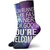 Los corredores lentos hacen que los corredores se vean bien. Eres bienvenido. Novedad. Calcetines de equipo. Calcetines deportivos. Medias de 30 cm.