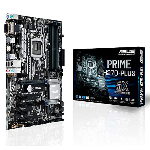 Asus Prime H270-Plus Gaming Mainboard Sockel 1151 (ATX, Intel H270, Kabylake, 4x DDR4-Speicher, USB 3.0, M.2 Schnittstelle)