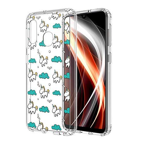 ZhuoFan Funda Samsung Galaxy A20e, Cárcasa Silicona Transparente con Dibujos Diseño Suave TPU...