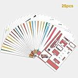 Aibecy 20pcs / pack 3D Papier Modèles Impression Pen Photo Mould Cartoon DIY (multicolore)