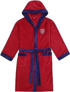 Arsenal FC Official Soccer Gift Mens Hooded Fleece Dressing Gown Robe