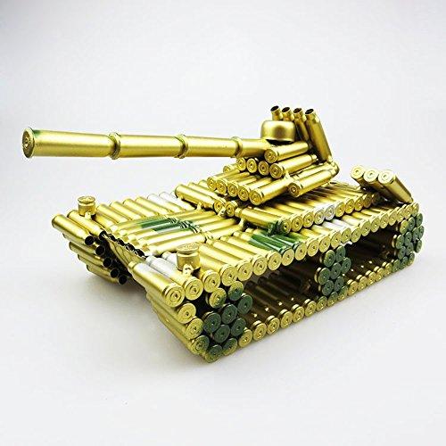 Kreative Bullet Shell Gehäuse Geformte Camo Armee Tank, Gold Kugel Shell Metall Tank Artwork Home Living/Study Room Dekorationen Geschenk Sammlerstück