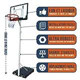 BUMBER Panier de Basket sur Pied Charlotte Réglable en Hauteur de 2m10 à 2m60, Portable et déplacable