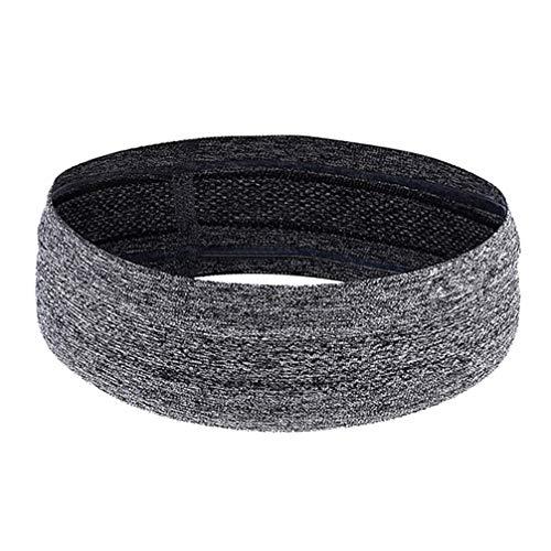 BESPORTBLE Sport Stirnbänder Elastische Fitness Schweißbänder Dehnbar Laufendes Stirnband rutschfeste Haarbänder Yoga Haarwickel Haarwickel Zubehör für Fußball Baseball (Grau)