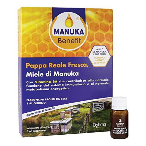 Manuka Benefit Manuka Benefit - Pappa Reale Fresca, Miele Di Manuka, Vit. B6, 10 Flaconcini Da 10 Ml - 22 g