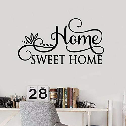 Tianpengyuanshuai Süße Familie wandtattoo Schlafzimmer Wohnzimmer Dekoration Vinyl wandaufkleber personalisierte abnehmbare wandbild 102x54 cm