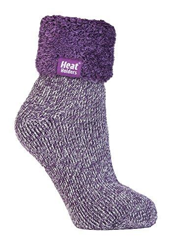 Heat HoldersThermo-Socken für Frauen, extra weich und flauschig, rutschfest, knöchelhoch Gr. Medium, HHL05