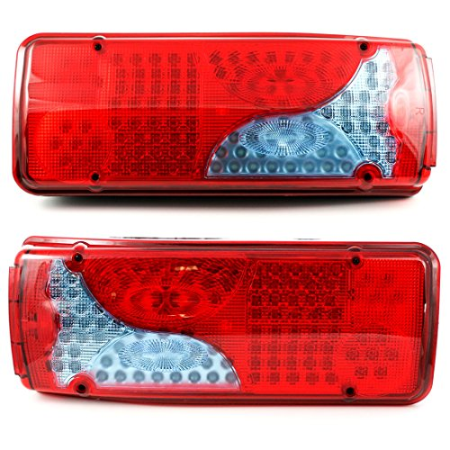 2 x 24V LED achterstaart 6 functies voor chassis, vrachtwagen, aanhanger, vrachtwagen, aanhanger, vrachtwagen, aanhanger, vrachtwagen 400 mm