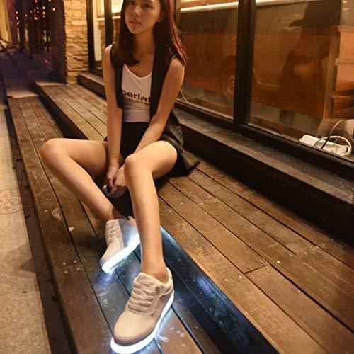 YXDS Calzado Deportivo Moda Casual Zapatillas de Deporte de Color sólido Zapatos con Cordones para Hombres y Mujeres 46