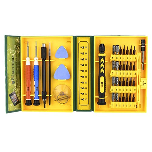 Destornillador de precisión 45 en 1, herramientas palanca de apertura, herramienta magnética portátil de reparación de bricolaje, botón de expulsión incorporado, para gafas, portátiles y otros equipos