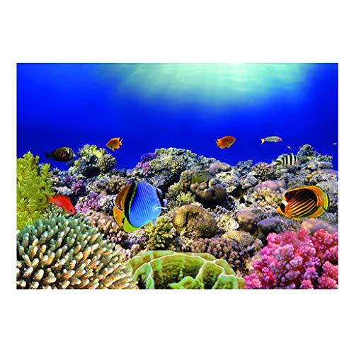 perfk Aquarium Poster Hintergrund Unterwasserwelt Aufkleber Wand Dekoration - 61 x 41 cm