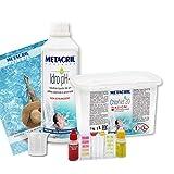 Metacril Kit de iniciación de cloro multiacción + reductor de pH líquido. Tratamiento ideal para piscina o hidromasaje (Teuco, jacuzzi, atenuación, Intex, Bestway, etc.).