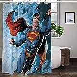 Superman-Duschvorhang, verschleißfest, hohe Temperaturwiderstandsfähigkeit, bunte Duschvorhänge, ungiftig, kein Geruch.