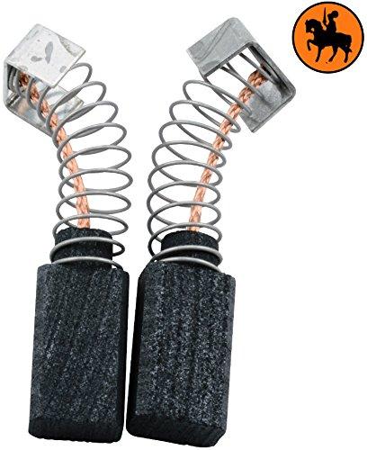 Buildalot Specialty koolborstels ca-17-16150 voor AEG heggenschaar HES40-5x8x14mm - met automatische uitschakeling, veren, kabel en stekker - vervanging voor originele onderdelen 4.931.306.842