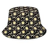 GodYo Bucket Hat Packable Reversible Sun Moon Star Print Sun Hat Fisherman Hat Cap Camping al Aire Libre