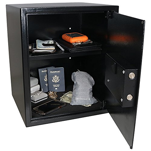 Sunnydaze Digital Security Safe Lock Box with Bolt-Down Hardware and Programmable Lock - For Home,...