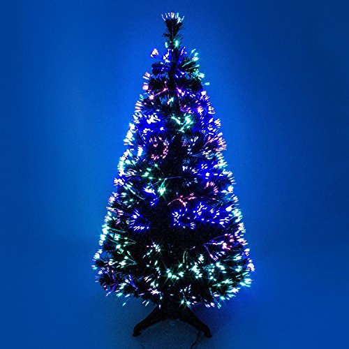 90cm 3ft green Christmas tree x-mas tree fiber optic color changing multi color led lights with stand free standing