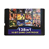138 in 1 Game Cartridge 16 bit Game Card for Sega Mega Drive Genesis Console
