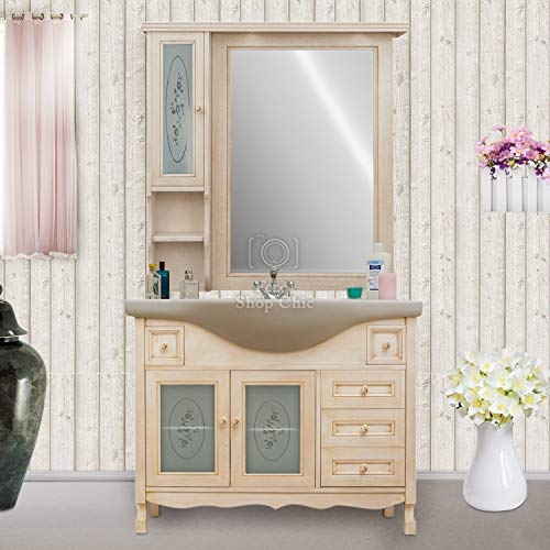 Shop Chic Arredo Bagno 105 cm Colore Avorio decapè Specchio pensile Classico