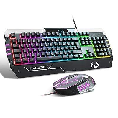 Teclado Gaming con ratón DE-Layout QWERTZ Gaming teclado y ratón blanco 6 ADJUSTABLE DPI-(600/800/1200/1600/2400/3200… 8