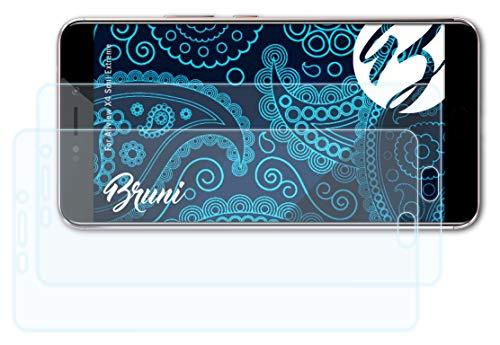 Bruni Schutzfolie kompatibel mit Allview X4 Soul Extreme Folie, glasklare Bildschirmschutzfolie (2X)