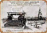 Underwood máquina de escribir cartel de metal de pared placa retro advertencia cartel de chapa decoración de pintura de hierro vintage manualidades colgantes divertidas para bar garaje cafetería