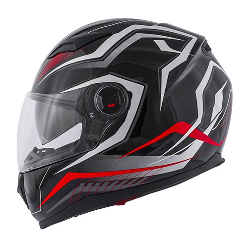CASCO INTEGRALE KV27 DENVER MATT BLACK/RED KAPPA TG L