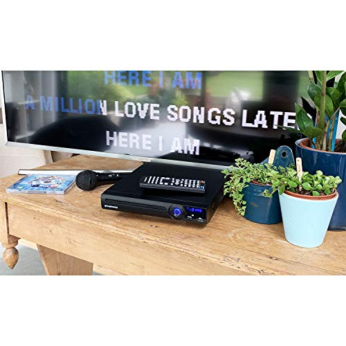 Grouptronics GTDVD-181 Compact Multi Region DVD Player & Karaoke Player with USB, HDMI, Scart & Easy Setup