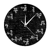 Gazechimp Reloj de Pared de Ecuaciones Matemáticas de Fórmulas únicas de 9 para El