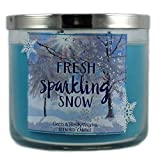 Bath & Body Works Candle 3 Wick 14.5 Ounce 2015 Edition Fresh Sparkling Snow