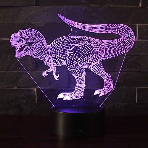 Dinosaure T1 3D Illusion Nuit Lumi/ère Win-Y LED Bureau Table Lampe 7 Couleur Tactile Lampe Maison Chambre Bureau D/écor pour Enfants Danniversaire De No/ël Cadeau
