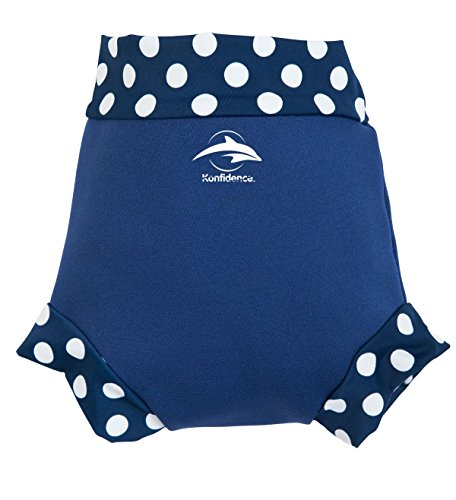 Konfidence Neoprene Swim - Traje de baño para niña, Color Azul, Talla Small