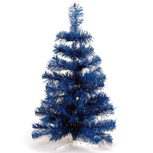 HAB & GUT -XM092- künstlicher Weihnachtsbaum/Farbiger Tannenbaum BLAU - Höhe 60 cm